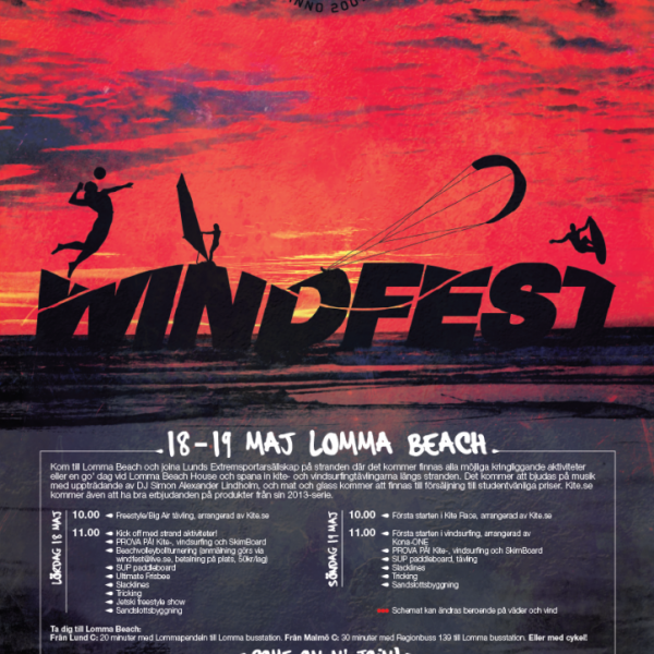 Windfest Lund 2013 - event logotype, posters and flyers