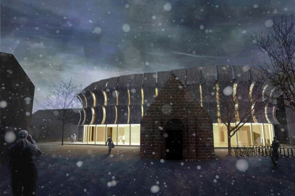 Reworked illustration: exhibition hall at Lund University, student project